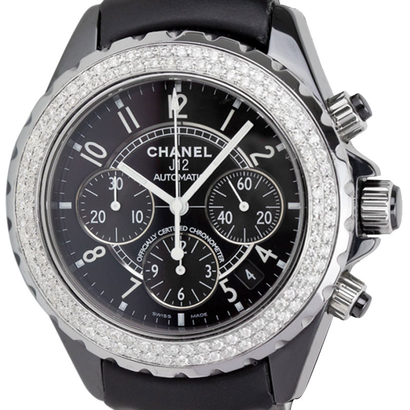 Chanel J12 Chronograph 41mm Leather Strap H0940