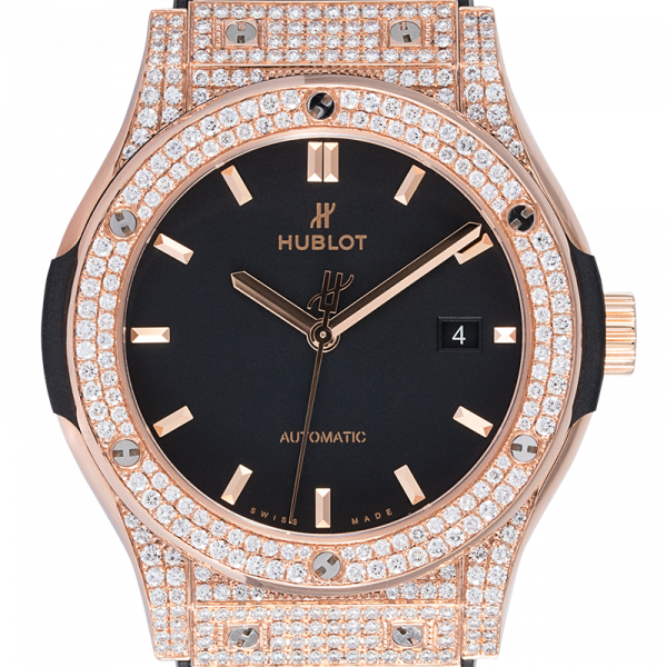 Hublot Classic Fusion 42mm Rose Gold Custom Diamond Set 542.OX.1181.LR