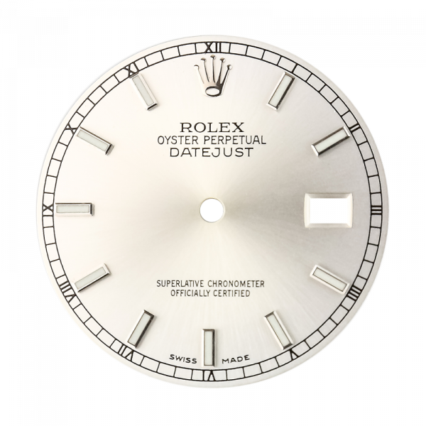 Rolex DateJust 36mm Silver/Index Original Factory Dial