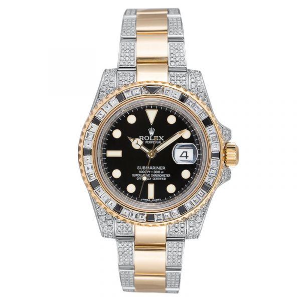 Rolex Submariner Date 116613LN Steel and 18ct Yellow Gold Diamond Set