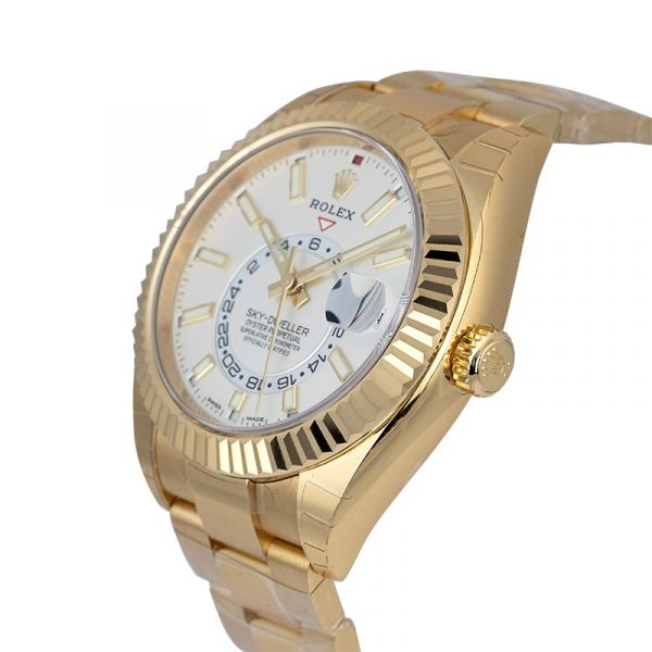 Rolex Sky-Dweller 18ct Yellow Gold White Dial 326938