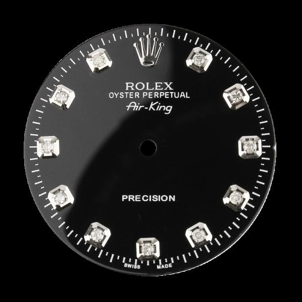 Rolex Air-King 40mm Black/Diamond Hour Markers Custom Dial