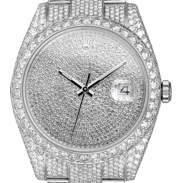 Rolex Datejust 41 Custom Diamond Set Diamond Paved Dial 126300