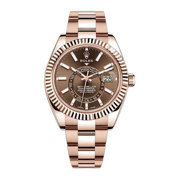 Rolex Sky-Dweller Rose Gold Chocolate Dial 326935
