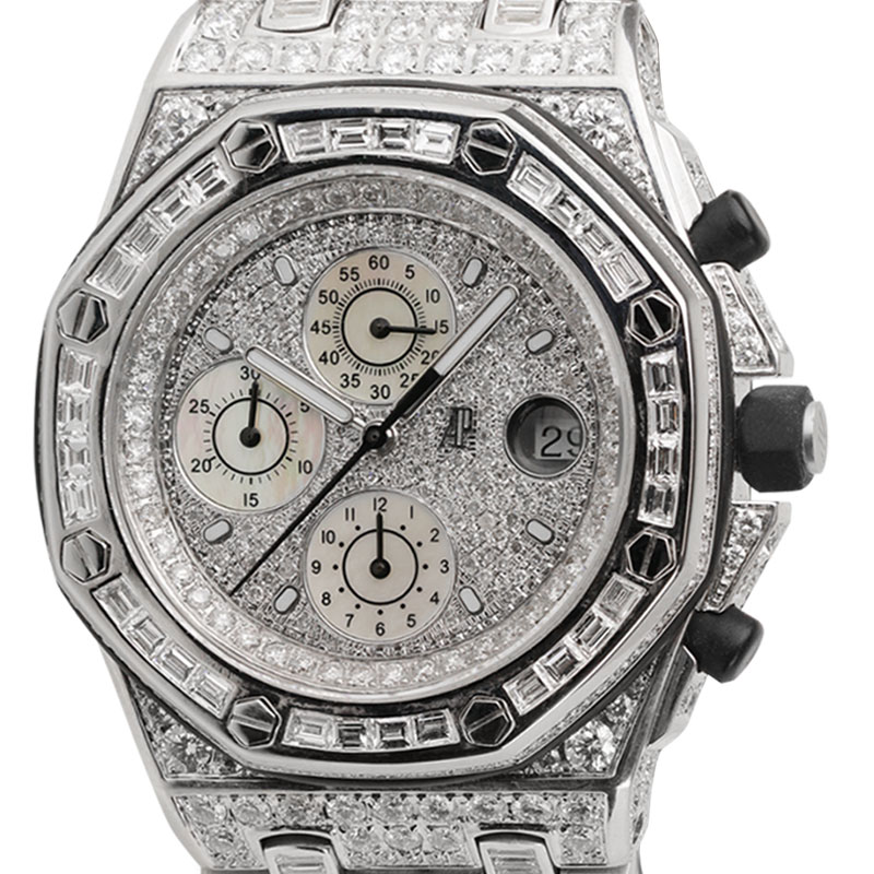 Audemars Piguet Royal Oak Offshore 42mm White Gold Diamond Set Watch 25940SK.OO.D002CA.01