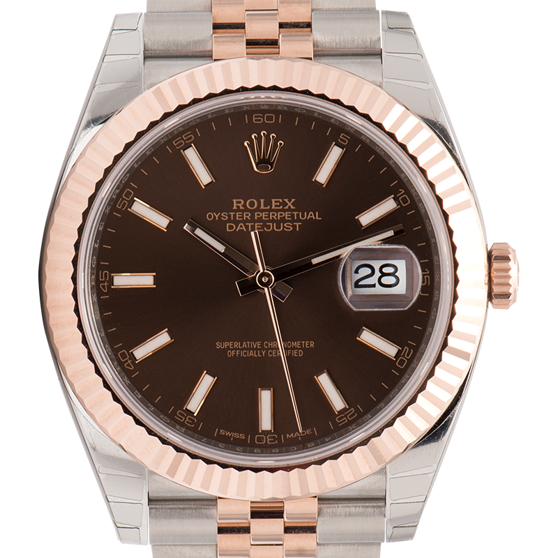 Rolex Datejust II Steel & Everose Chocolate/Index 126331