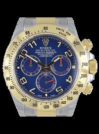 Rolex Cosmograph Daytona Steel & Gold Blue Arab 116523