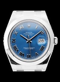 Rolex DateJust II 41mm Stainless Steel Blue/Roman 116300