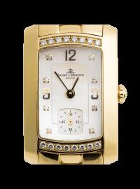 Baume & Mercier Diamond Hampton Milleis 18k Yellow Gold Watch Pearl Dial M0A06994