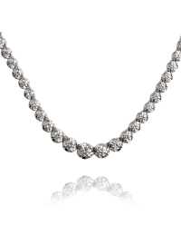T4D White Gold Necklace Set with Diamonds