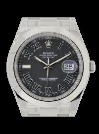 Rolex DateJust II Steel Watch with Black Dial 116300