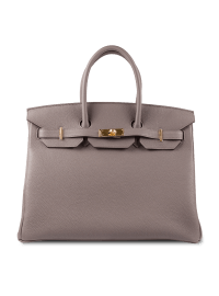 Hermes Taupe Birkin Gold Hardware Bag