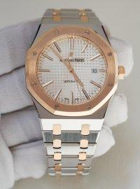 Audemars Piguet Royal Oak 41 silver dial in steel and rose gold 15400SR.OO.1220SR.01