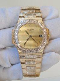 Patek Philippe Ladies Nautilus 36 champagne dial in full yellow gold 3800/05J