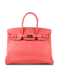 Hermes Togo Bag Exquisite Rose Jaipur Gold Hardware