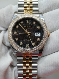 Rolex Datejust 36 black jubillee design dial in stainless steel and yellow gold 116243