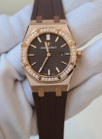 Audemars Piguet Royal Oak 33 brown dial in rose gold 67651OR.ZZ.D080CA.01
