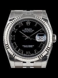 Rolex DateJust 36mm Steel Black Dial 116234