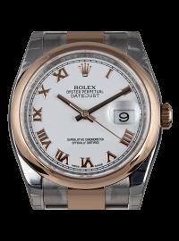 Rolex DateJust White Roman Oyster 116201