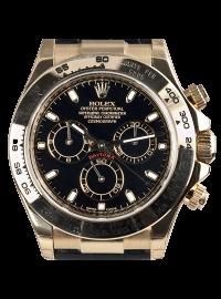 Rolex Cosmograph Daytona 18ct Yellow Gold Black/Index Leather 116518
