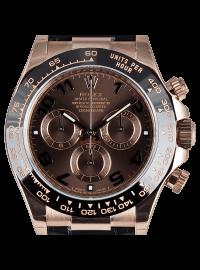Rolex Cosmograph Daytona Rose Gold Chocolate Arab Leather 116515LN