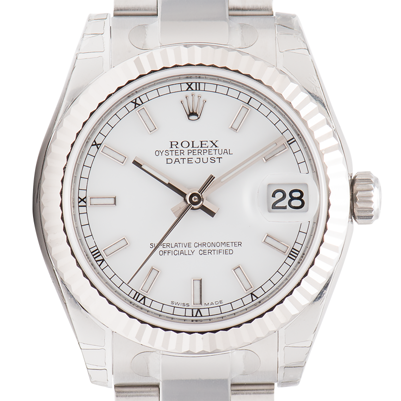 Rolex Lady DateJust 31mm Steel White Dial Oyster 178274