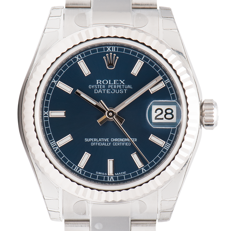 Rolex Lady DateJust 31mm Steel Blue Dial Oyster 178274