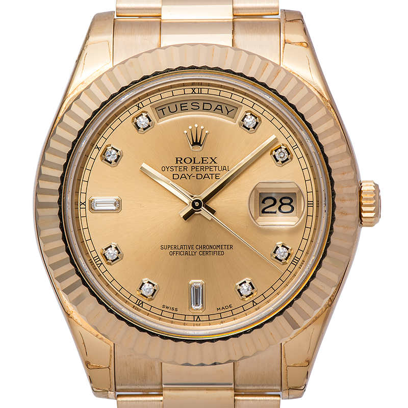 Rolex Day-Date II Yellow Gold Diamond Dial 218238