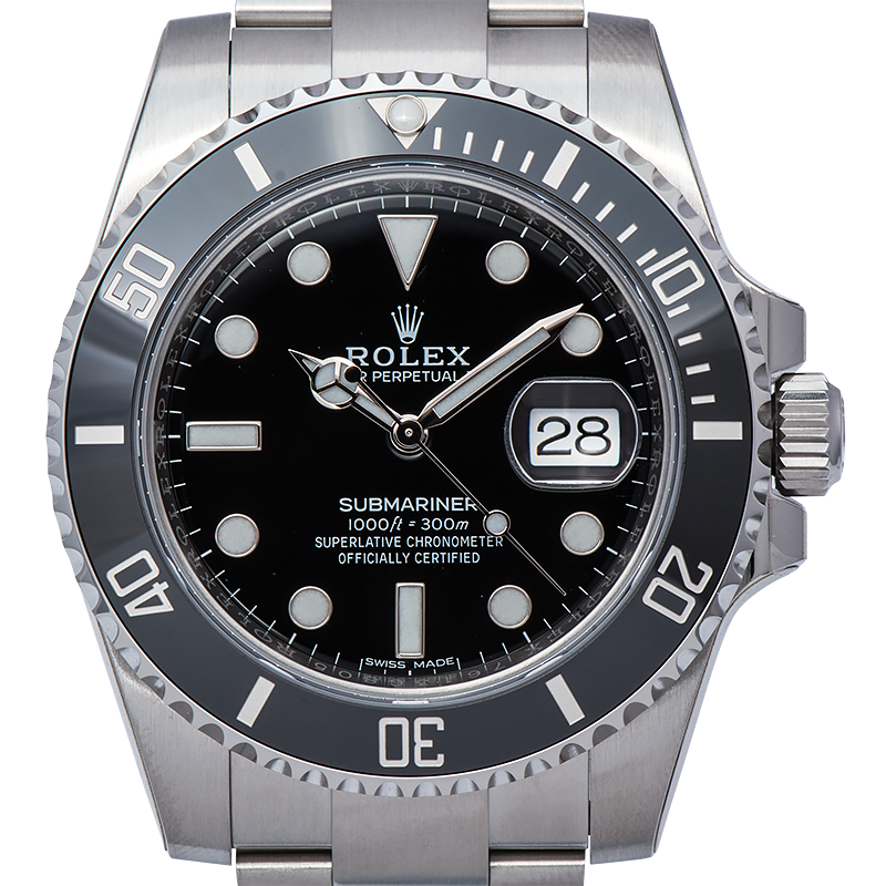 Rolex Submariner Stainless Steel Watch Black Dial 11610LN