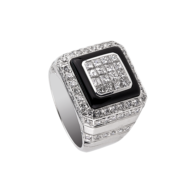 Tim4Diamonds White Gold Onyx Ring
