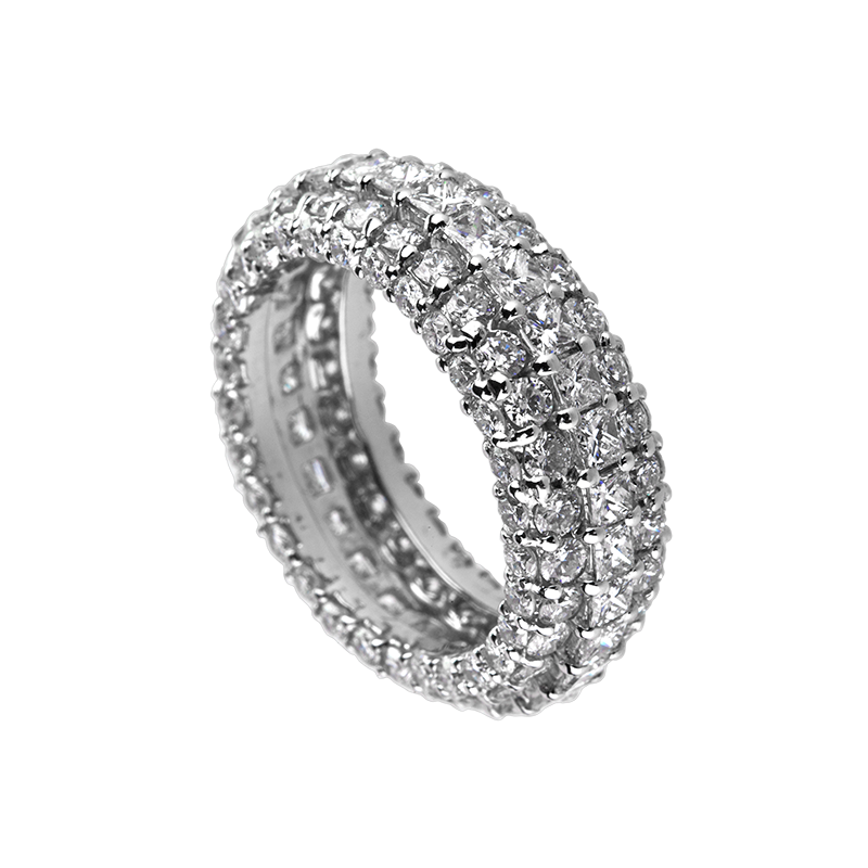 Time4Diamonds Full Pave Mens White Gold Ring