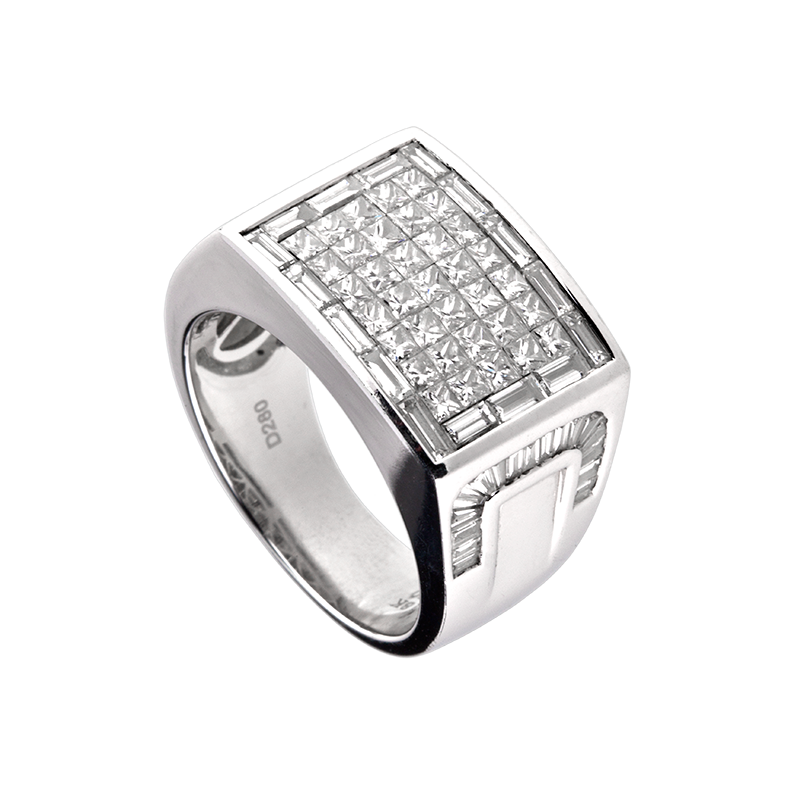 Time4Diamonds Mens White Gold Ring