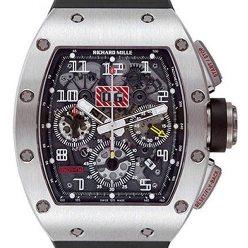 Richard Mille RM 011 Felipe Massa Flyback Chronograp 50mm x 40mm x 16.15 titanium black RM 011