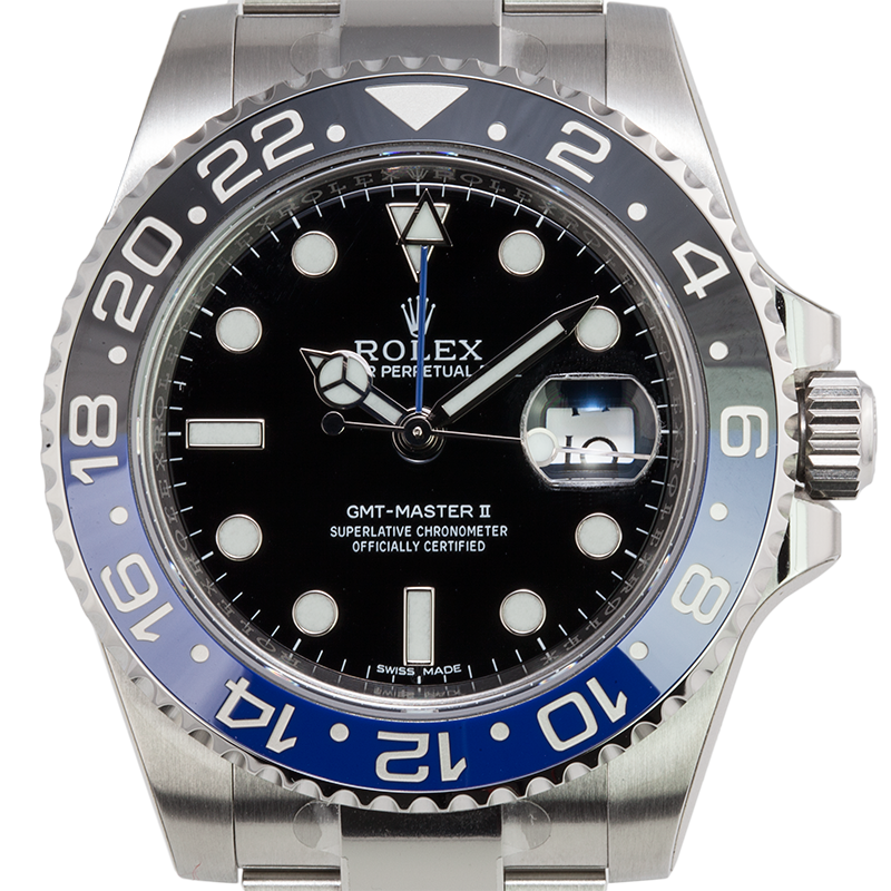 "Rolex GMT-Master II ""Batman"" Stainless Steel Watch 116710BLNR"