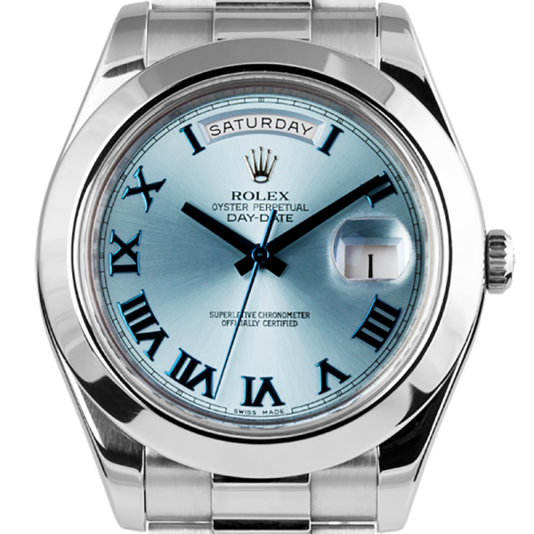 Rolex Day-Date II 41mm Ice Blue Platinum President 218206