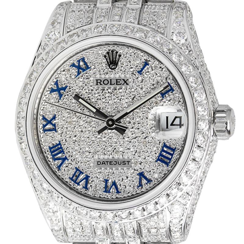 Rolex Datejust 31 Steel Full Diamond Set Watch 178274