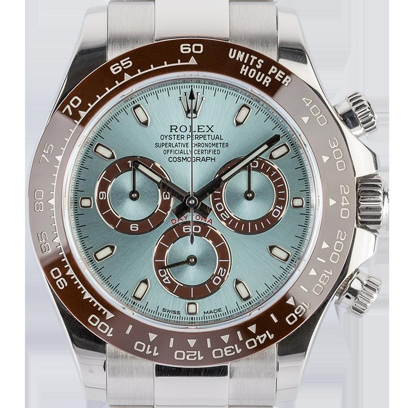 Rolex Cosmograph Daytona Platinum Ice Blue/Index 116506