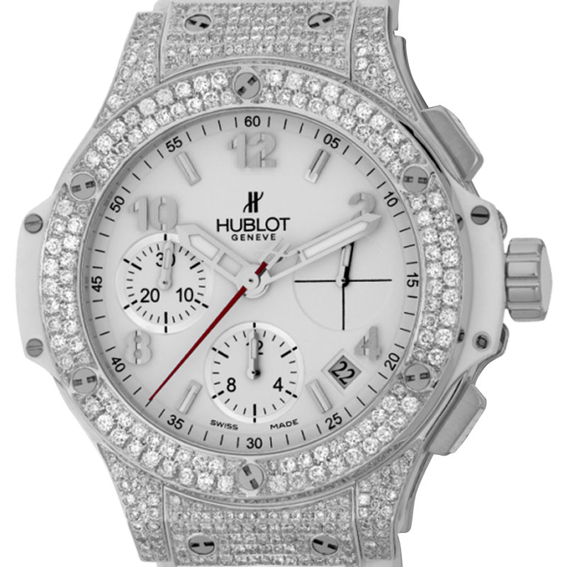 Hublot Big Bang 41mm Chronograph Titanium Custom Diamond Set 342.SE.230.RW