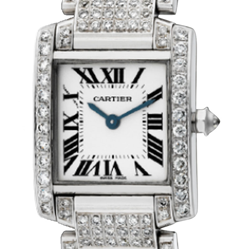 Cartier Tank Francaise Custom Diamond Set Watch W51008Q3