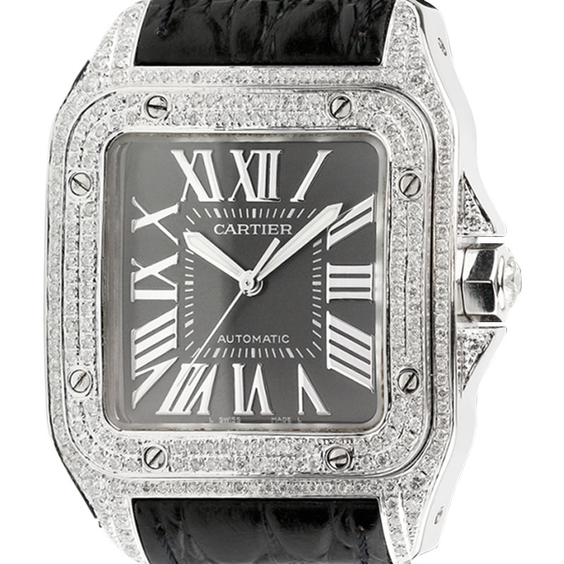 Cartier Santos 100 L Diamond Set Limited Edition W20073X8