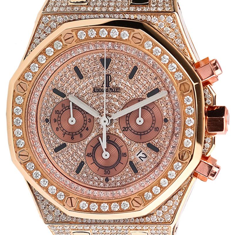 Audemars Piguet Royal Oak 41mm Rose Gold Diamond Set 26320ST.OO.1220ST.01