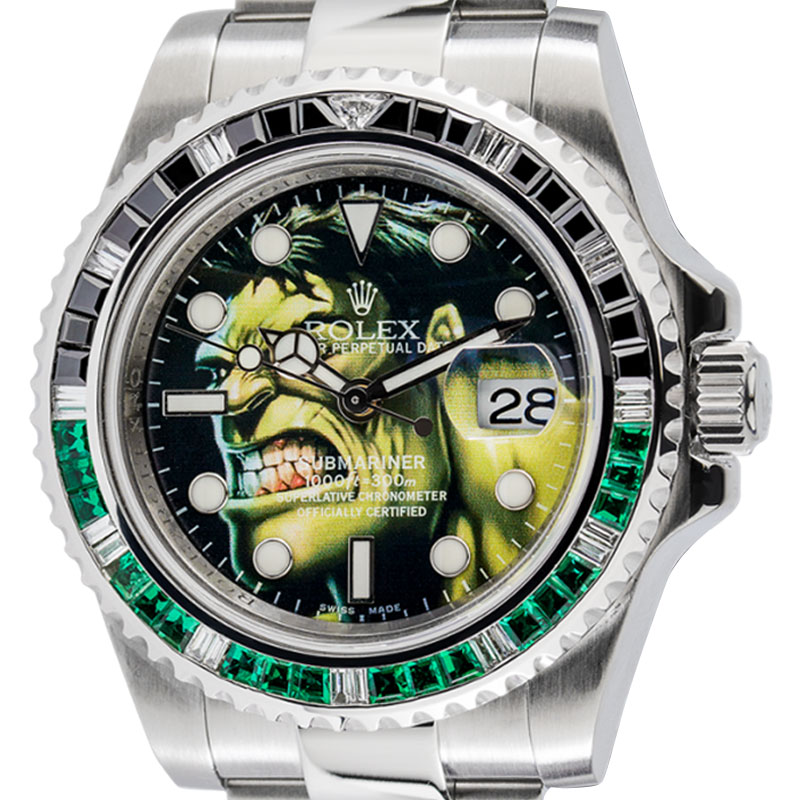 Rolex Submariner Hulk Custom Design Watch 116610LN