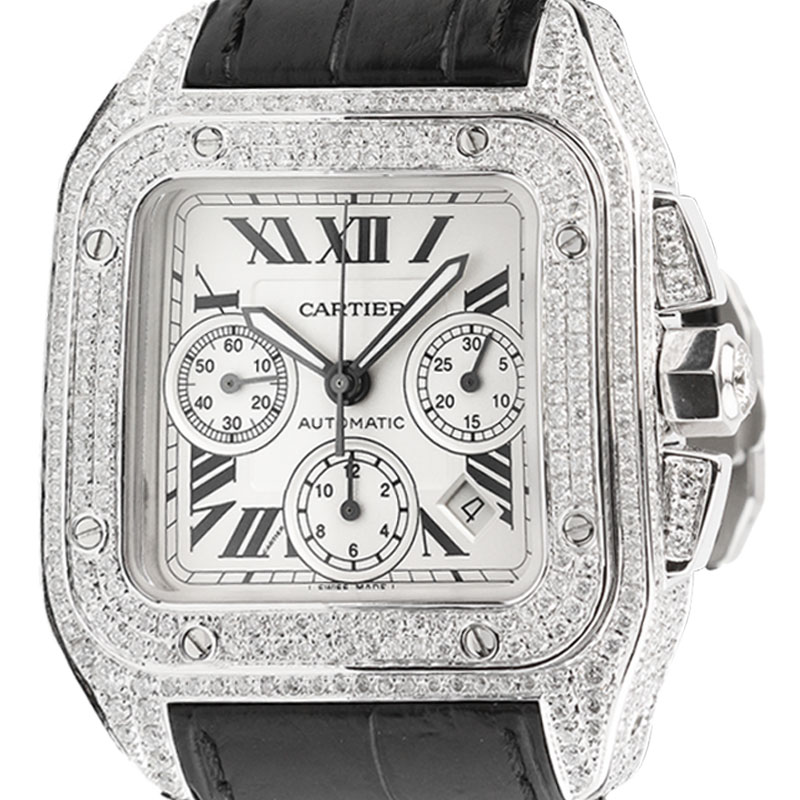 Cartier Santos 100 XL Chronograph Diamond Set W20090X8