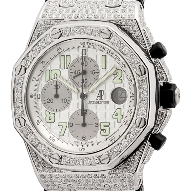 Audemars Piguet Royal Oak Offshore 42mm Diamond Set with White Dial 25940SK.OO.D002CA.02