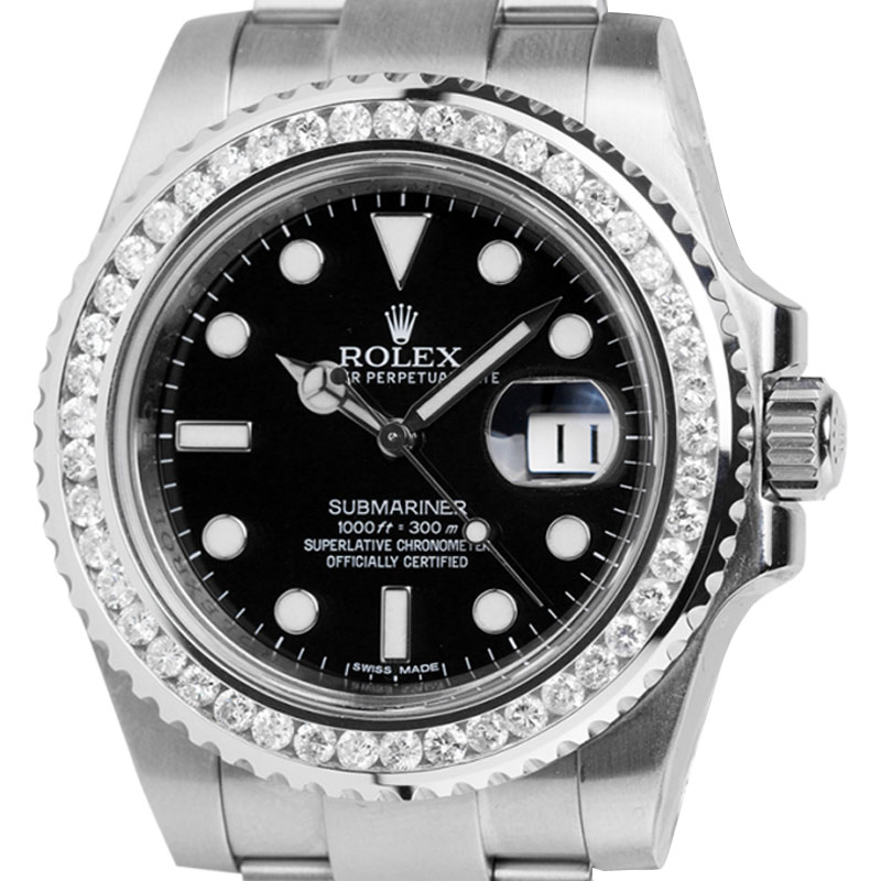 Rolex Submariner Date Steel with Custom Bezel 116610LN