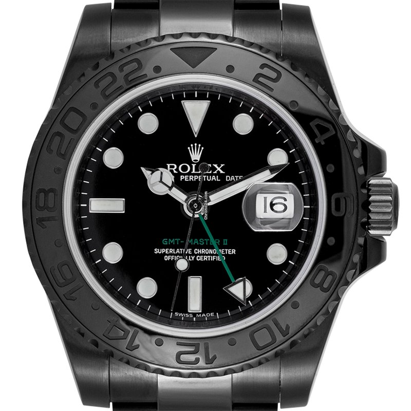 Rolex GMT-Master II Custom Black PVD Coating 116710LN