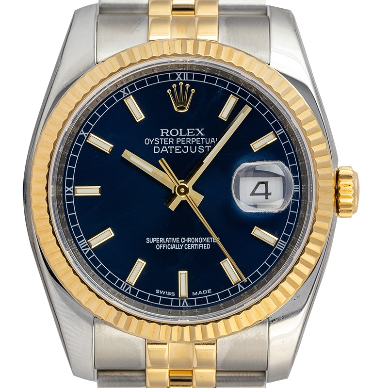 Rolex Datejust 36 Steel and Yellow Gold Blue Dial 116233