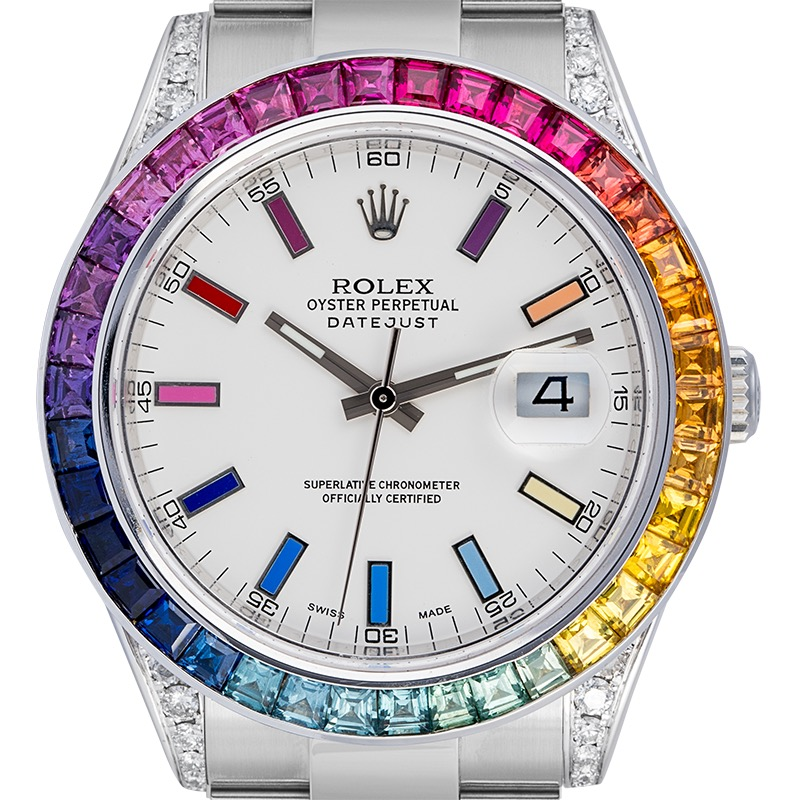 Rolex Datejust II Custom Rainbow Set 116300