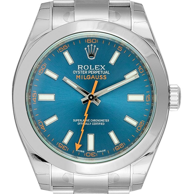 Rolex Milgauss Stainless Steel Z-Blue Dial 116400GV Watch