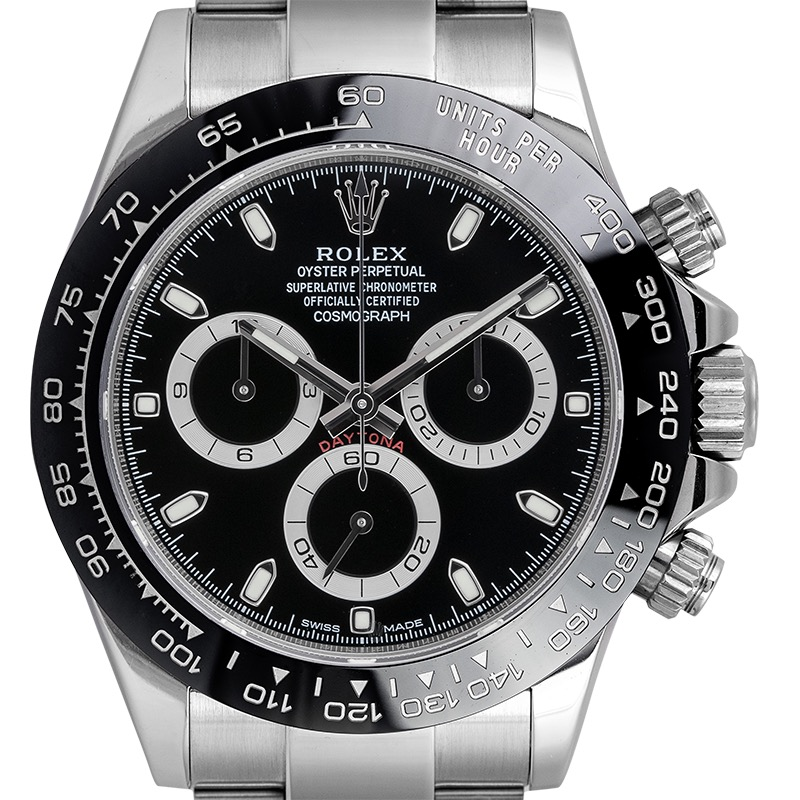 Rolex Daytona Steel Ceramic Bezel Black Dial 116500LN Watch